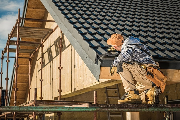 Roof Inspection In New House Construction & Roof Installation